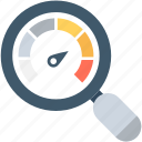 analysis, magnifying, speed test, web analyzer, website speed icon