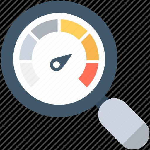 analysis, magnifying, speed test, web analyzer, website speed icon
