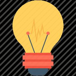 bulb, idea, innovation, invention, lightbulb icon