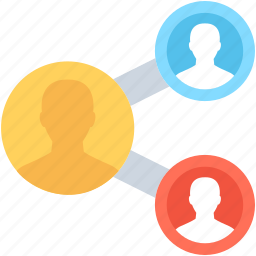 affiliate marketing, connected user, networking, social network, viral marketing icon