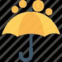 coins, financial, insurance, umbrella, wealth