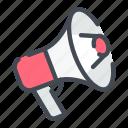 advertising, bullhorn, loudspeaker, megaphone, notification icon