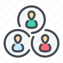 connection, group, person, profile, team, teamwork, user icon