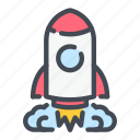 rocket, ship, space, start, startup, up icon