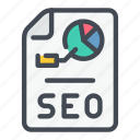 analytics, doc, list, report, seo, statistics, stats icon