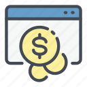 coin, dollar, money, online, pay, payment, website icon