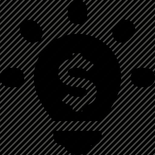 budget, idea, light bulb, marketing, money, seo icon