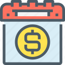 bank, banking, business, calendar, money, plan, planning icon