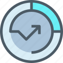 arrow, business, data, graph, growth, report, up icon