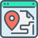 browser, document, gps, location, map, website icon