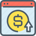 banking, browser, business, money, payment, ppc, website icon
