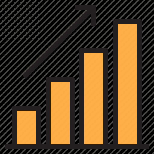 bar, chart, marketing, online, seo icon