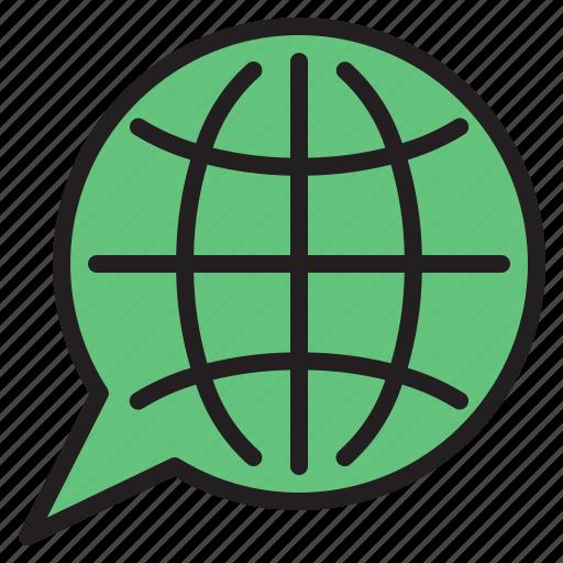 global, marketing, online, seo icon