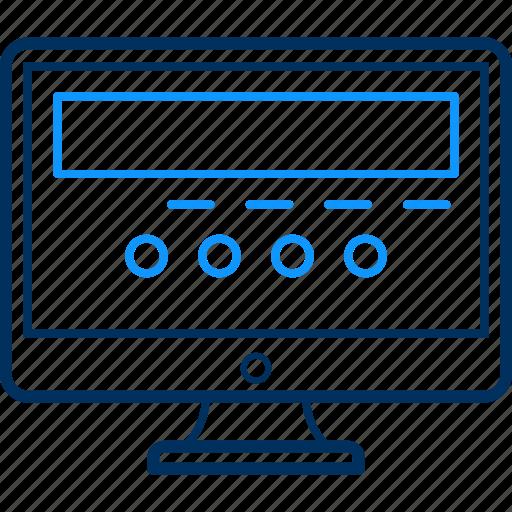 computer, screen icon