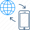 internet, mobile, web icon