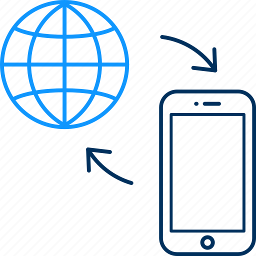 internet, mobile, web icon