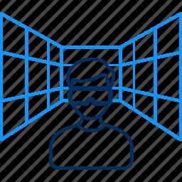 seo, technology, virtual icon
