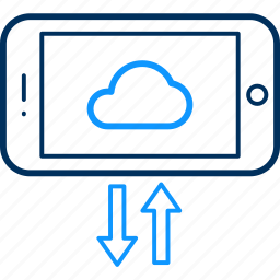 cloud, mobile, upload icon