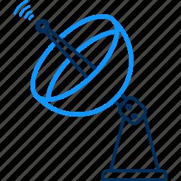 antenna, dish, signal, wireless icon