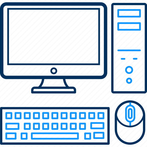 computer, cpu, keyboard, monitor, mouse, pc, system icon