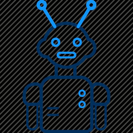 machine, manufacturing, robot, robotic icon