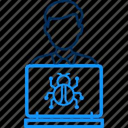 administrator, bug, control, pest, virus icon