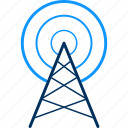 building, office, satellite, signal, tower icon