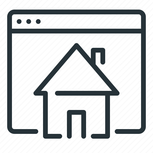 home, homepage, website icon