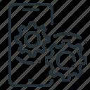 development, mobile, mobile phone, optimization icon