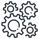 cogwheel, development, gear, setting icon