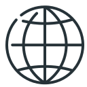 globe, internet, sphere, web icon