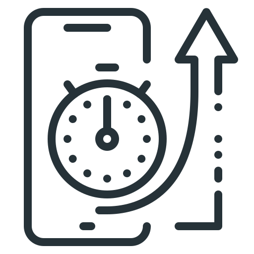 ios, mobile, optimization, response, seo, stopwatch, time icon