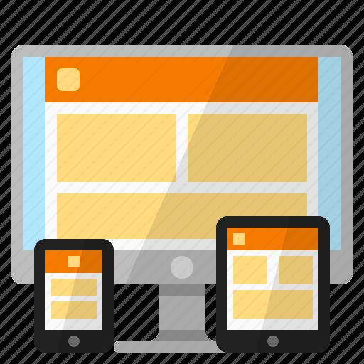 responsive web, responsive web design, responsive website design, web design icon