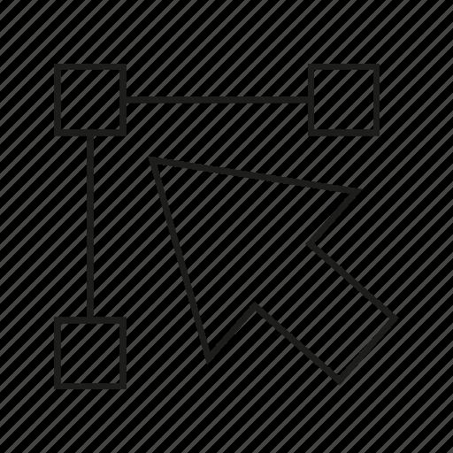 arrow, click, design, vector icon