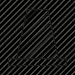 cone, under construction icon