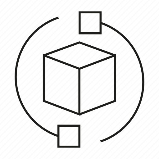box, cube, dimension icon