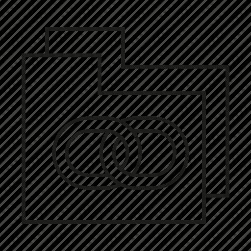 chain, file, folder, link icon