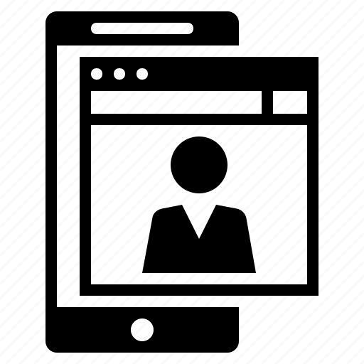 digital profile, internet account, internet profile, online account, online profile, profile, web profile icon