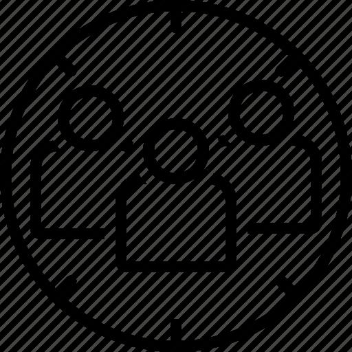 customer, focus, group, marketing, optimization, target audience, user icon