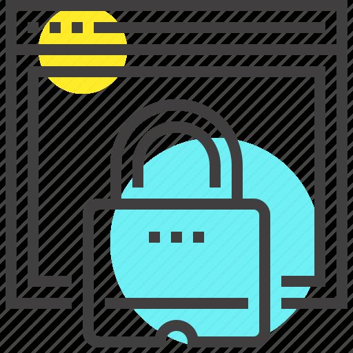 identity, login, padlock, protection, security, web icon