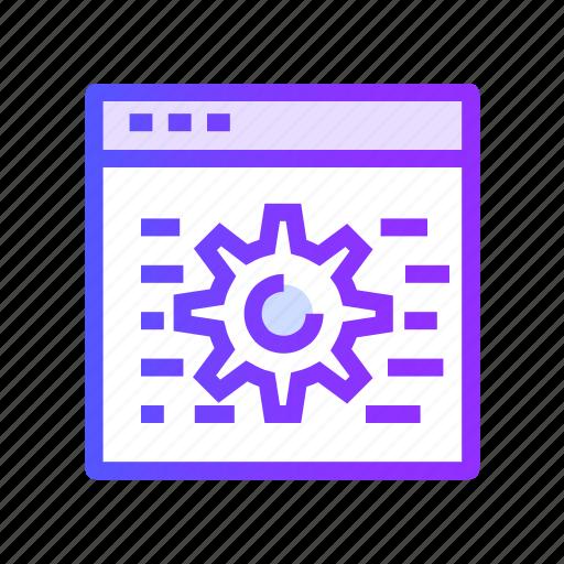 code, development, optimization, seo icon