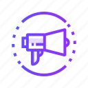 promotion, sound, announcement, megaphone icon