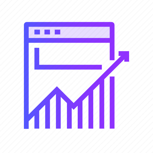 business, diagram, graph, growth, traffic icon