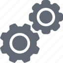 cogs, cogwheel, gear, gearwheel, settings icon