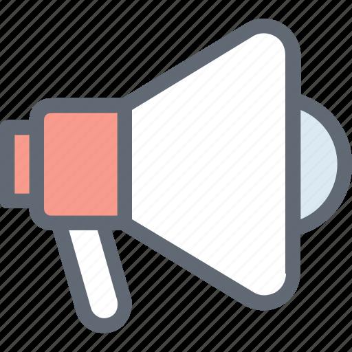 alert, announcement, loud hailer, megaphone, speaking trumpet icon