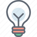 bulb, idea, invention, light bulb, luminaire icon