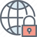 global security, globe, globe lock, globe with lock, lock icon