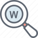 domain extension, find domain, magnifier glass, magnifying, search domain