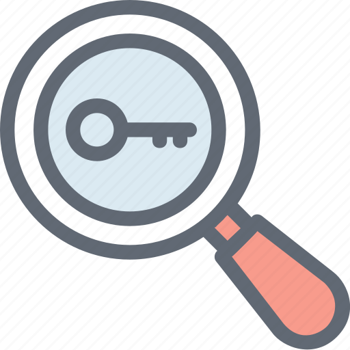 magnifier magnifying glass password search search keyword icon