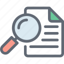 magnifier, magnify glass, page, search file, search page